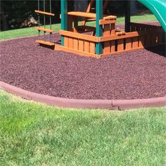 """ORDER OUR 4""""Hx4'Lx3""""W PLAYSAFER BORDERS TOGETHER WITH OUR PLAYSAFER RUBBER MULCH AND RECEIVE A SPECIAL BUNDLE DISCOUNT! CONTACT US FOR DETAILS 888-492 PLAY(7529"""