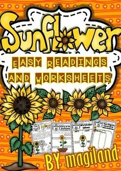 Sunflower Easy Readings and Printables (2nd/5th) 50% OFF 48 Hs.
