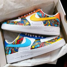 Zapatos Nike Jordan, Zapatos Nike Air, Nike Air Shoes, Jordan Nike, Custom Painted Shoes, Custom Shoes, Air Force One Shoes, Shoes Wallpaper, Painted Sneakers