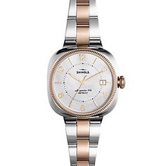 Shinola Gomelsky 36mm Two-Tone Mother-of-Pearl Dial Watch