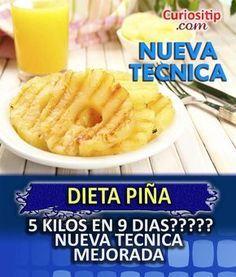 Dieta de la Piña NUEVA FORMA para Bajar de Peso   Curiositip