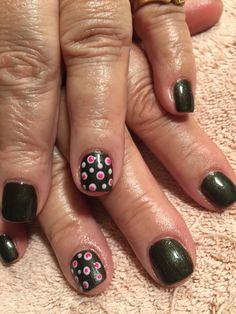 Nails by Mindy 816-914-8987 Historical square Liberty, MO Polka dot fun night glimmer