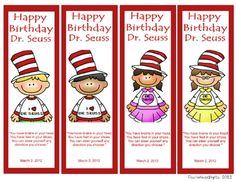 Bookmarks :) Dr. Seuss