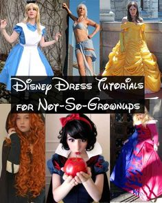 Disney Princesses. | 19 Awesome DIY Halloween Costumes To Start Making Now - now if I could just learn to sew