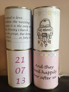 Wedding car tin cans  #iinviteall  #heirloomheaven 4/$20