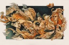 """Thousandfurs oil painting by artist Wylie Beckert. Illustration for the Grimm fairytale """"Thousandfurs"""" (also known by its alternate title """"The King who Wished to Marry His Daughter"""") - See more at: http://www.wyliebeckert.com/?show=sketchblog#sthash.7dycNL1p.dpuf"""