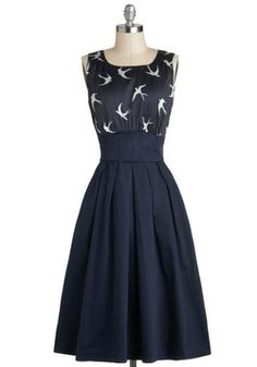 The Polite Pairing Dress in Birds- Not available anymore from #ModCloth