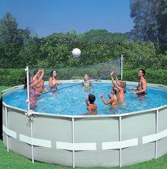 Fabulous INTEX Frame Pool Set Ultra Rondo x Leiter SandFilter Abdeck Bodenplatte