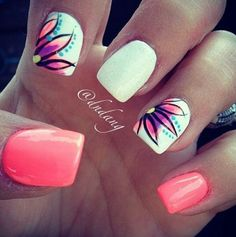 bright, summer nails