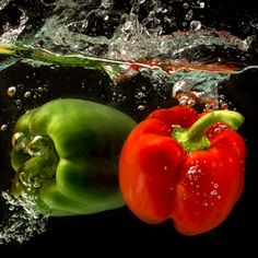Red and green peppers!