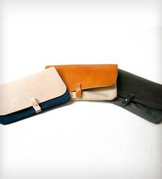 Waxed Canvas and Leather Clutch Purse by 1.61 Soft Goods on Scoutmob Shoppe