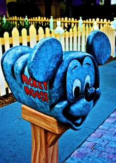 Mickey's mailbox... Have multiple pictures with this.