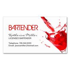 271 Best Bartender Business Cards Images In 2019 Bartender