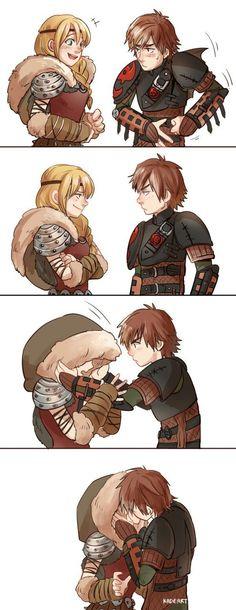 A kiss - the viking way ;)