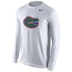 cf5c334726a9 Florida Gators Nike Cotton Logo Long Sleeve T-Shirt - White