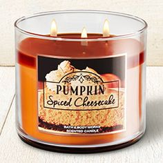 Pumpkin Spiced Cheesecake Candle - Home Fragrance 1037181 - Bath & Body Works Bath Candles, 3 Wick Candles, Scented Candles, Candle Jars, Girly Things, Old Things, Autumn Interior, Aroma Therapy, Bath And Body Works