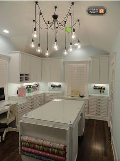 Craft Room design.  Good details for a laundry room augment.