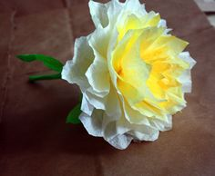 """A beautiful """"coffee filter"""" flower! Great idea for lasting arrangements. cost effective and relatively easy!"""