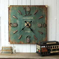French country style American industry to do the old retro square wall clock large living room large wall clock wall clock shop-in Floor Clocks from Home & Garden on Aliexpress.com | Alibaba Group