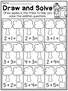 Fall Kindergarten Math and Literacy Worksheet Pack Fall addition apple worksheet. This Fall Kindergarten Math and Literacy Worksheet Pack features so many diverse activities relating to begin Kindergarten Pictures, Kindergarten Math Activities, Preschool Kindergarten, Class Activities, Subtraction Kindergarten, Kindergarten Addition Worksheets, Free Preschool, Literacy Worksheets, Literacy Centers