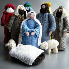 HAND KNITTED NATIVITY SCENE - Folksy - Christmas List item #2