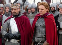 "Tom Hiddleston as Henry V  Jeremy Irons as Henry IV in ""The Hollow Crown"" (2012)"