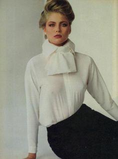 """Vogue US June 1980 """"Paris… An Irresistible Charm!"""" Model: Kim Alexis Photographer: Francesco Scavullo"""