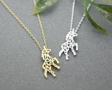 2016 nueva moda Animal unicornio colgante , collar de caballo para para la joyería minimalista Neckilace regalo del partido para las niñas N196(China (Mainland))