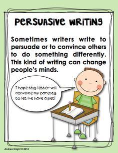 persuasive writing units