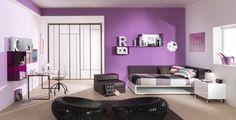 Enfants modernes chambre à coucher design violet