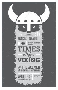 This viking concert #poster is hilarious in concept and wonderful in design #graphicdesign