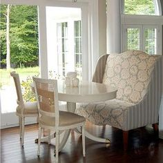 Windsor Smith Home   Dining Rooms   Breakfast Room, Settee, Wingback Settee,  Patterned