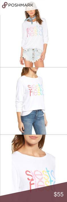 NWT Wildfox Siesta Fiesta Sweatshirt Size S Super cozy and colorful sweatshirt. Wildfox Tops Sweatshirts & Hoodies