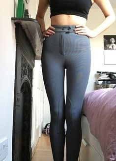 Buy here at #vinteduk http://www.vinted.co.uk/womens-clothing/skinny-trousers/6673183-american-apparel-grey-ribbed-jodhpurs