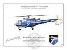 SA 316B/ Alouette III GENDARMERIE    FRENCH GENDARMERIE . GENDARMERIE NATIONALE    FORMATIONS AÉRIENNES DE LA GENDARMERIE  DÉTACHEMENTS AÉRIENNES DE GENDARMERIE    SA 316B Alouette III    JBX N°1693 venant de l'ALAT