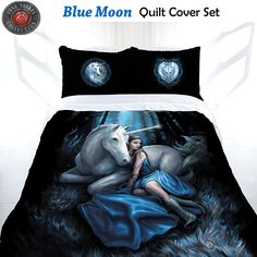Blue Moon Quilt Cover Set by Anne Stokes