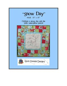 Snow Day PDF Pattern from Quilt Doodle by quiltdoodledesigns, $6.00