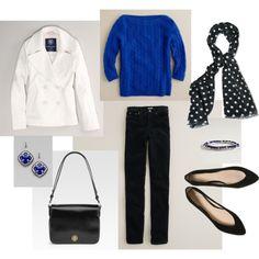 Cobalt blue and black. Love the flats $55 at topshop.com