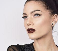 dark lips + smokey eyeliner