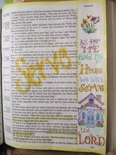 A Palette Full of Blessings Bible journaling. Some beautiful drawings in her Bible!