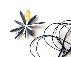 Splurt Brooch Atomic Flower Brooch Wearable Art by kathiroussel