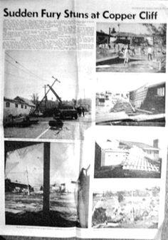 1970 Sudbury Tornado Coverage of Damage in the Copper Cliff Area - Sudbury Star