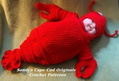 Pattern for baby's crocheted lobster snuggly. That's hilarious. And mean.