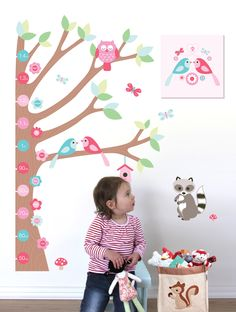 Start with a growth chart, add a canvas and finish with a storage hamper - perfect!