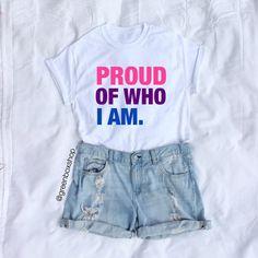 Proud of Who I Am Shirt - Bisexual Pride Shirt - Bi Pride - Bisexual Flag