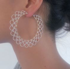 ARABESQUE earrings HOOP SV / AR305