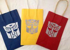 Transformer Goody bags by KBsKraftKorner on Etsy Transformers Birthday Parties, 6th Birthday Parties, Birthday Fun, 10th Birthday, Birthday Ideas, Transformer Party, Transformers 5, Rescue Bots Birthday, Cumple Paw Patrol