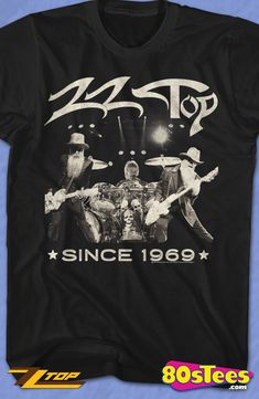 a65a231af9657e Since 1969 ZZ Top Geeks  Get this men s style shirt to celebrate many years  of top music. The illustration and design make this a must have for your  music ...