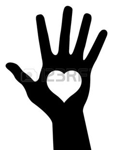 Illustration of Hand with heart, abstract vector illustration vector art, clipart and stock vectors. Heart Hands, Hand Heart, Silhouette, Music Files, Vector Art, Clip Art, Stock Photos, Collection, Drawings