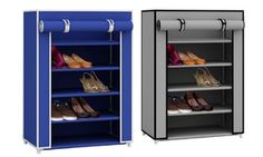 Groupon - Sunbeam 5-Tier 15-Pair Shoe Closet with Dust-Free Cover. Groupon deal price: $27.99